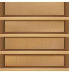 wooden empty bookshelf vector image