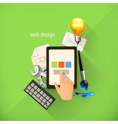 Web-design concept infographic technology vector