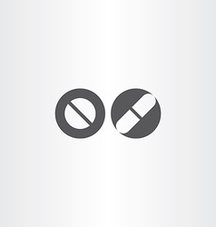Pill and capsule black icon element vector