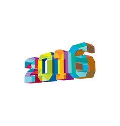 2016 new year low polygon vector