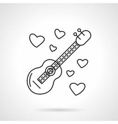 Romantic serenades flat line icon vector