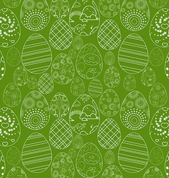 Abstract white easter egg on green background vector