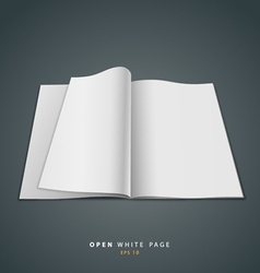 Open white page vector