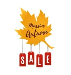 Autumn sale abstract banner vector