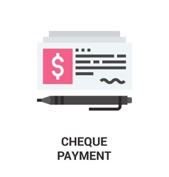 Check payment icon concept vector