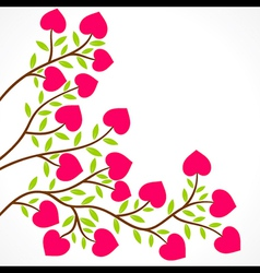 colorful heart shape flower plant design vector image vector image