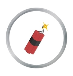 Dynamite icon cartoon singe western icon from the vector