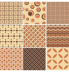Endless patternTemplate for design and decoration vector image vector image