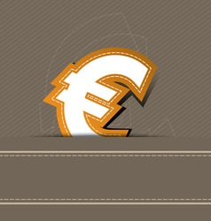 euro money icon design vector image vector image