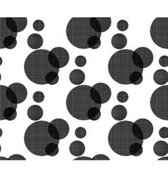 fabric circles abstract seamless vector image vector image