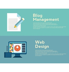 Flat design concepts for web design graphic design vector image vector image