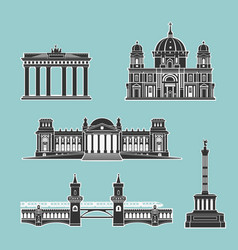 German historical monuments of architecture vector