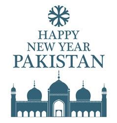 Greeting card pakistan vector