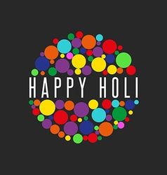 Happy Holi spring festival of Sharing love banner vector image vector image