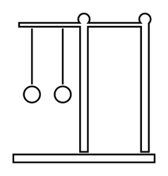 Horizontal bar with rings icon outline style vector image vector image