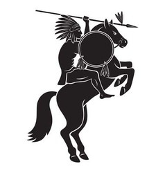 Indian on horseback vector