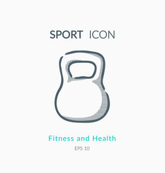 iron weight icon on white background vector image