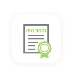 Iso 9001 certificate vector