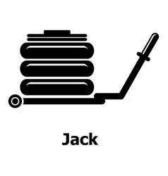 jack icon simple black style vector image vector image