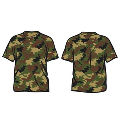 military t-shirt vector image vector image