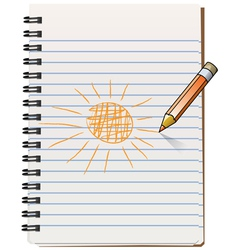 notepad with pencil vector image vector image