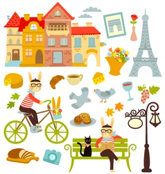 Paris collection vector image vector image