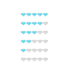 Rating from blue diamonds vector