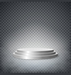 Round stage podium pedestal isolated on white vector image vector image