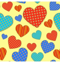 Seamless pattern with checkered hearts vector image vector image
