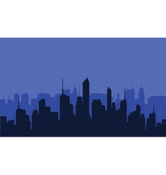 Silhouette of many buildings vector image vector image
