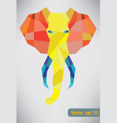 Trendy polygonal elephant vector