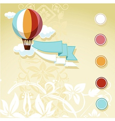 vintage design with flying balloon vector image