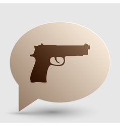 Gun sign  brown gradient icon on vector