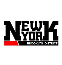 T shirt typography new york brooklyn district vector