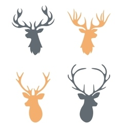 Hipster hand drawn vintage label with a reindeer vector