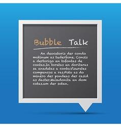 3d bubble talk blackboard vector