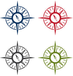 Abstract icon design template of compass set vector