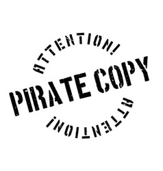 Pirate copy rubber stamp vector