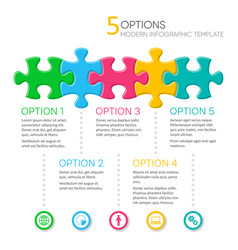 five options modern infographic template vector image