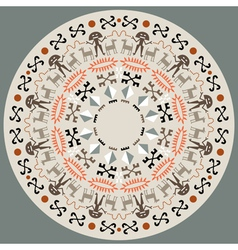 Disc with aboriginal art vector