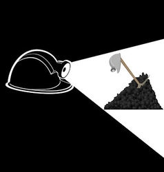 Mine vector image
