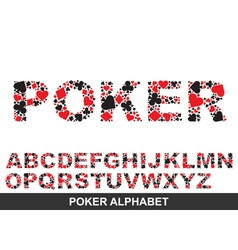Poker alphabet from a to z vector