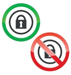 Locked permission signs vector