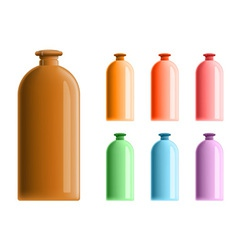 Simple plastic bottles vector