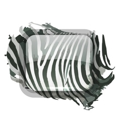 Zebra print for your design vector