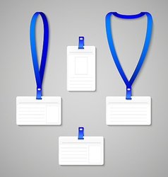 Badge Holder vector image