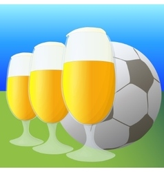 Football and beer vector