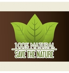 Natural green ecology vector