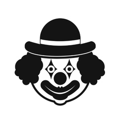 Clown simple icon vector