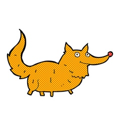 Comic cartoon little dog vector